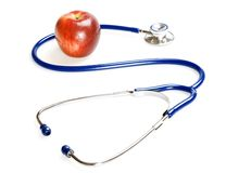 Stethoscope and apple Royalty Free Stock Photography
