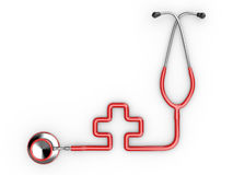 Stethoscope as symbol of medicine. Stock Photo