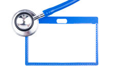 Stethoscope and badge Stock Photo