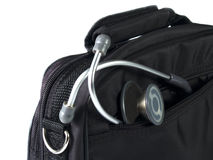 Stethoscope And Bag Royalty Free Stock Photography