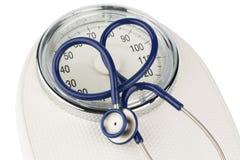 Stethoscope and balance Stock Image