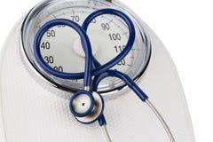 Stethoscope and balance Stock Photos