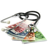 Stethoscope And Bank Notes Stock Image