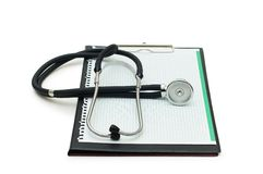 Stethoscope on the binder Stock Image