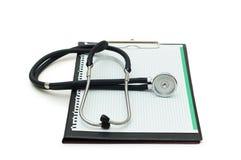 Stethoscope on the binder Stock Image