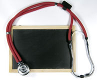 Stethoscope and blackboard Stock Photography