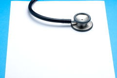 Stethoscope on Blank Paper Stock Photos