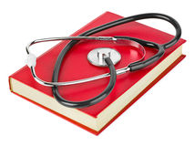 Stethoscope and book Royalty Free Stock Images