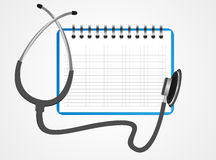 Stethoscope book  Royalty Free Stock Images