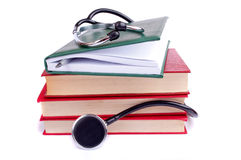 Stethoscope and books Royalty Free Stock Photo