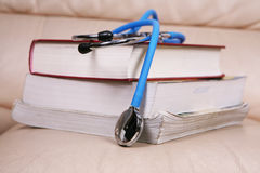 Stethoscope   on books Royalty Free Stock Photos