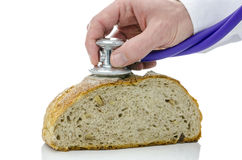 Stethoscope on a bread Royalty Free Stock Photos