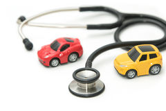 Stethoscope with car , maintenance and repair Royalty Free Stock Images