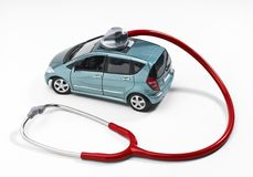 Car with stethoscope Royalty Free Stock Photography