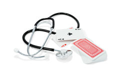 Stethoscope and card Stock Images