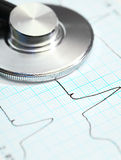 Stethoscope in Cardiology Royalty Free Stock Photo