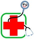 Stethoscope cartoon Royalty Free Stock Photo