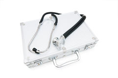 Stethoscope and case Stock Photography