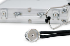 Stethoscope and case isolated Stock Photography