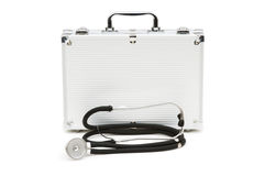 Stethoscope and case isolated Stock Photos