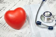 Stethoscope. Checking the heart rate. Medical tool. For your design. Metal. Stock Photos