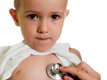 Stethoscope on child Stock Image
