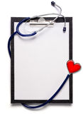 Stethoscope and clipboard Royalty Free Stock Photos
