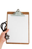 Stethoscope and Clipboard Stock Photos