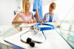 Stethoscope on clipboard Stock Photography