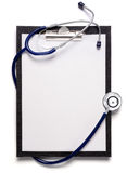 Stethoscope and clipboard Stock Photography