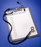 Stethoscope and clipboard Royalty Free Stock Photography