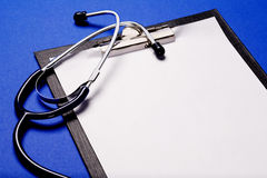 Stethoscope and clipboard Stock Image