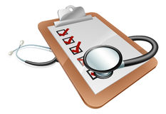 Stethoscope clipboard concept Royalty Free Stock Photography