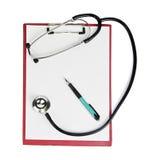 Stethoscope,clipboard,pen Royalty Free Stock Photo