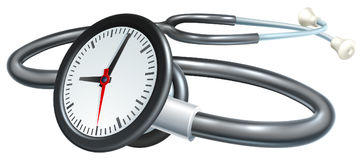 Stethoscope Clock Concept Stock Image