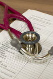 Stethoscope close up Royalty Free Stock Photography