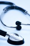 Stethoscope Close up. On a white background with a blue tint Stock Images