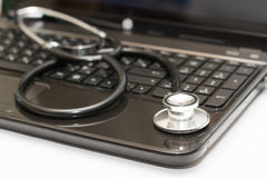 Stethoscope computer Stock Image