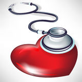 Stethoscope consulting heart Royalty Free Stock Photography