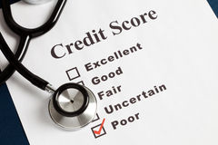 Stethoscope and Credit Report Royalty Free Stock Image