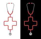 Stethoscope cross Stock Photo