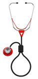 The stethoscope. 3d generated picture of a stethoscope concept stock illustration