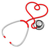 The stethoscope Royalty Free Stock Photo