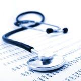 Stethoscope and data Royalty Free Stock Photo