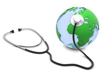 Stethoscope and Earth Stock Images