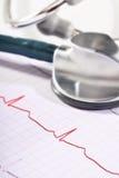 Stethoscope and ECG Stock Image