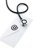 Stethoscope and email Stock Images
