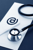 Stethoscope and email Royalty Free Stock Images