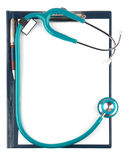 Stethoscope and empty document in a clipboard Stock Photography