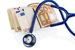 Stethoscope and euro banknotes, Stock Photo